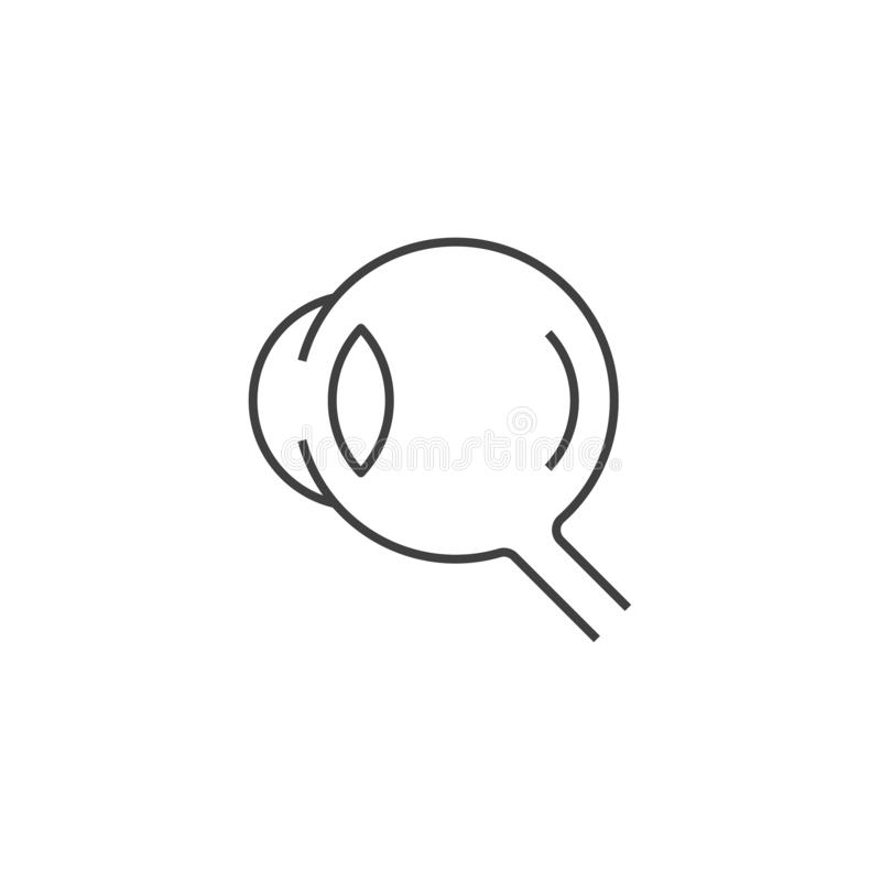 Eye Vector Line Icons. Eye Related Vector Line Icon. Isolated on White Background. Editable Stroke stock illustration