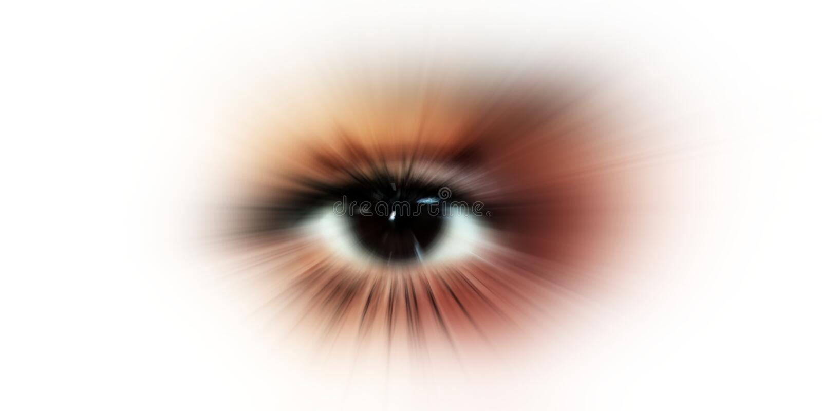 Eye vision. abstract eye with digital circle. futuristic vision science and identification concept. stock photography
