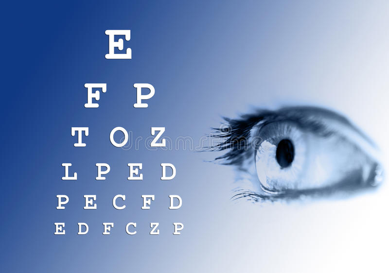 Download Eye Vision Test Royalty Free Stock Photos - Image: 17077858