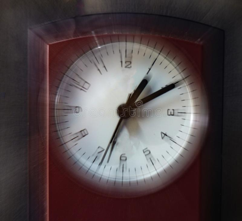 Eye vision view of a clock stock image