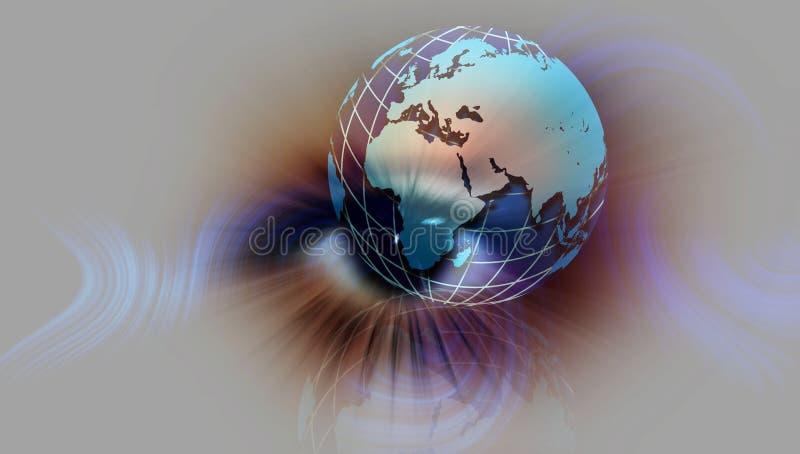 Eye vision of World Globe. vector illustration. vector illustration
