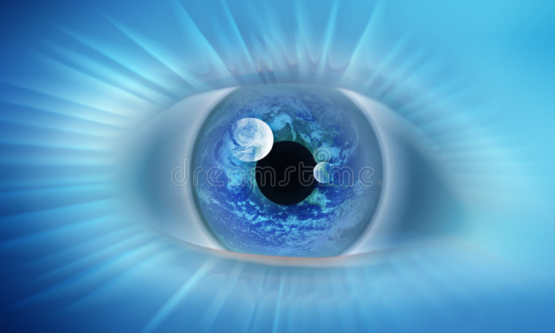 Eye of the world. The eye that represents the vision of the world