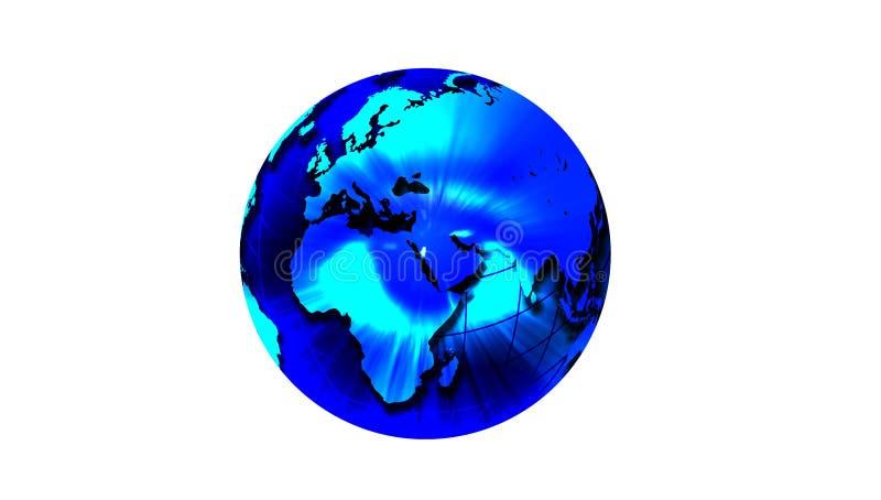 Eye of World Globe. vector illustration. royalty free illustration