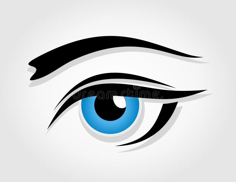 Eye6 illustration stock