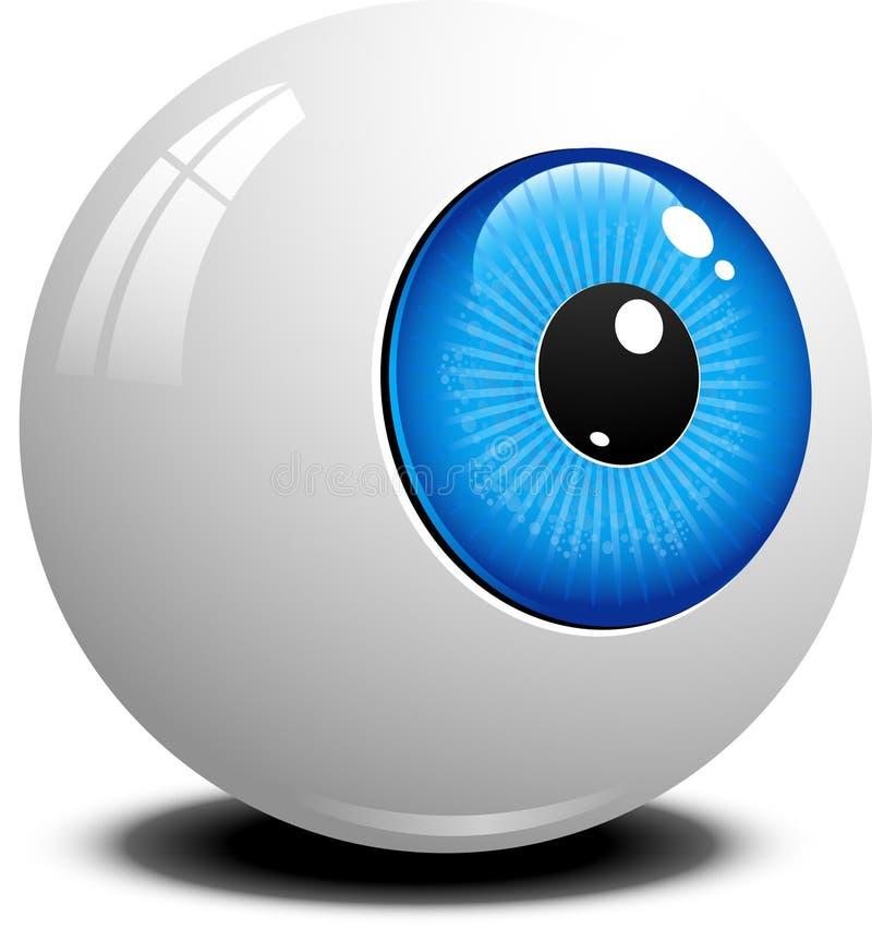 Eyeball. Over white. EPS 10 royalty free illustration