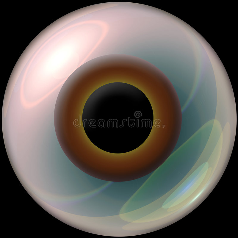 eyeball 3 d royalty ilustracja