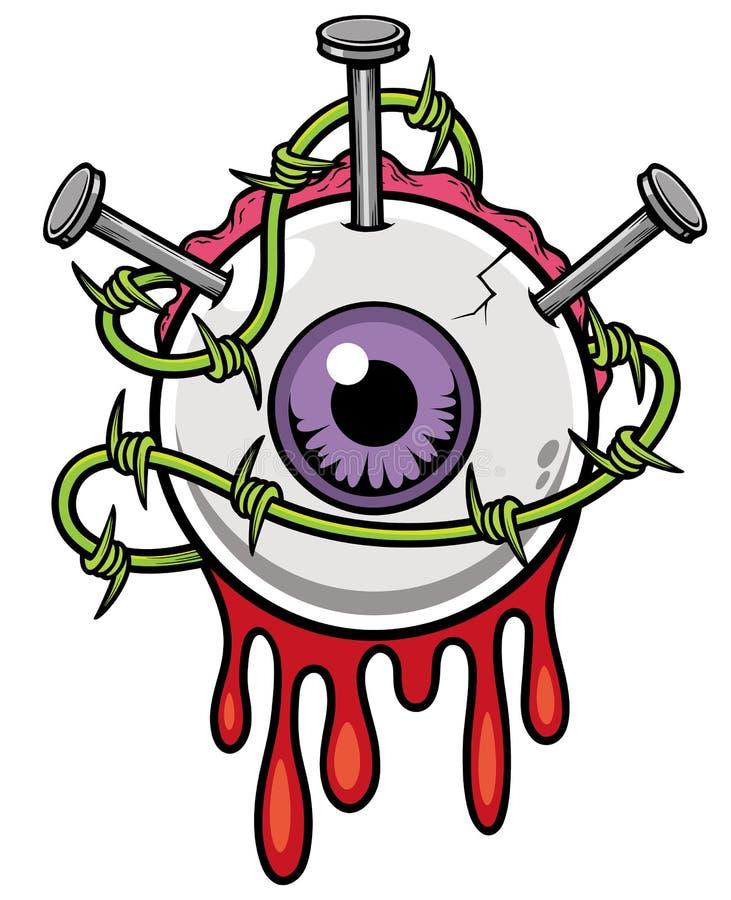 eyeball ilustração stock