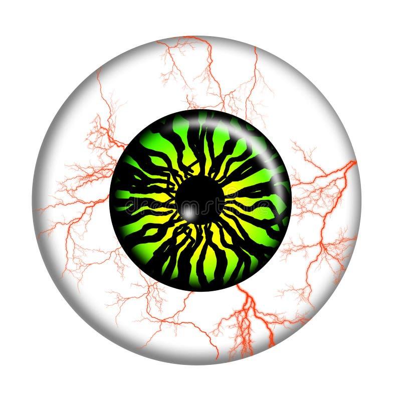 eyeball stock de ilustración