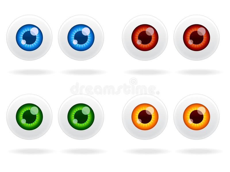 Download Eyeball Icon Set EPS stock vector. Image of element, drawing - 15778121