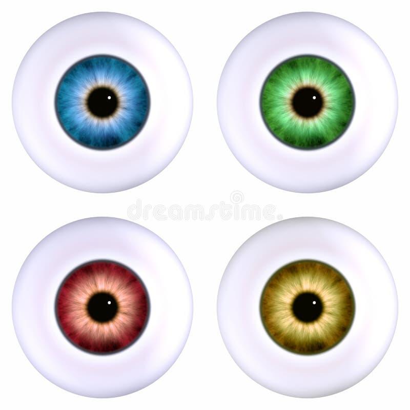 eyeball kolor royalty ilustracja