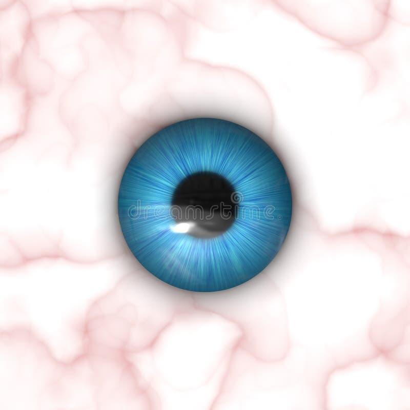 eyeball mapy teksturę ilustracja wektor