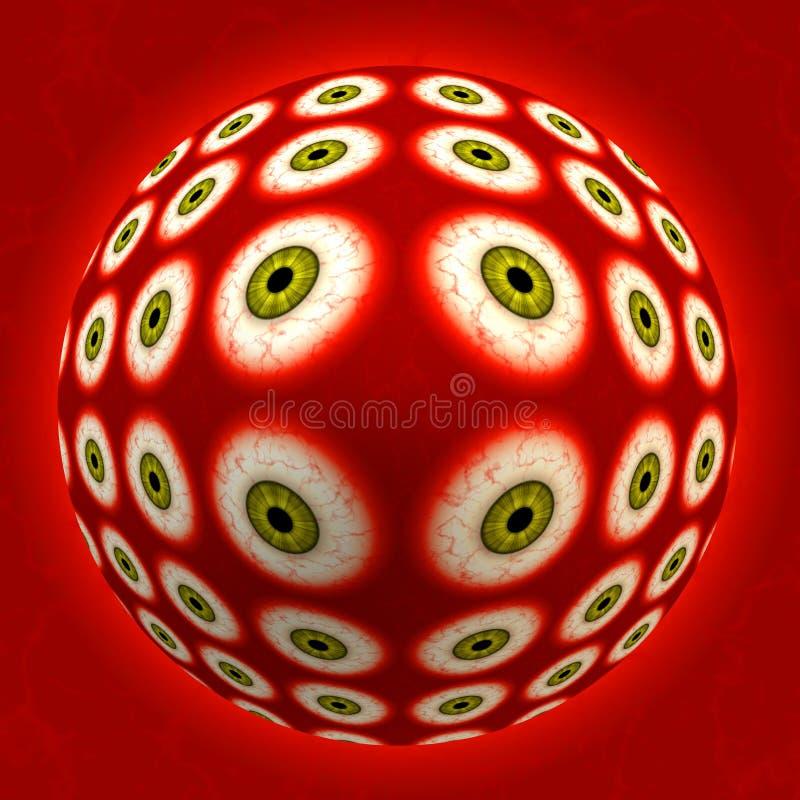 eyeball obcych ilustracji
