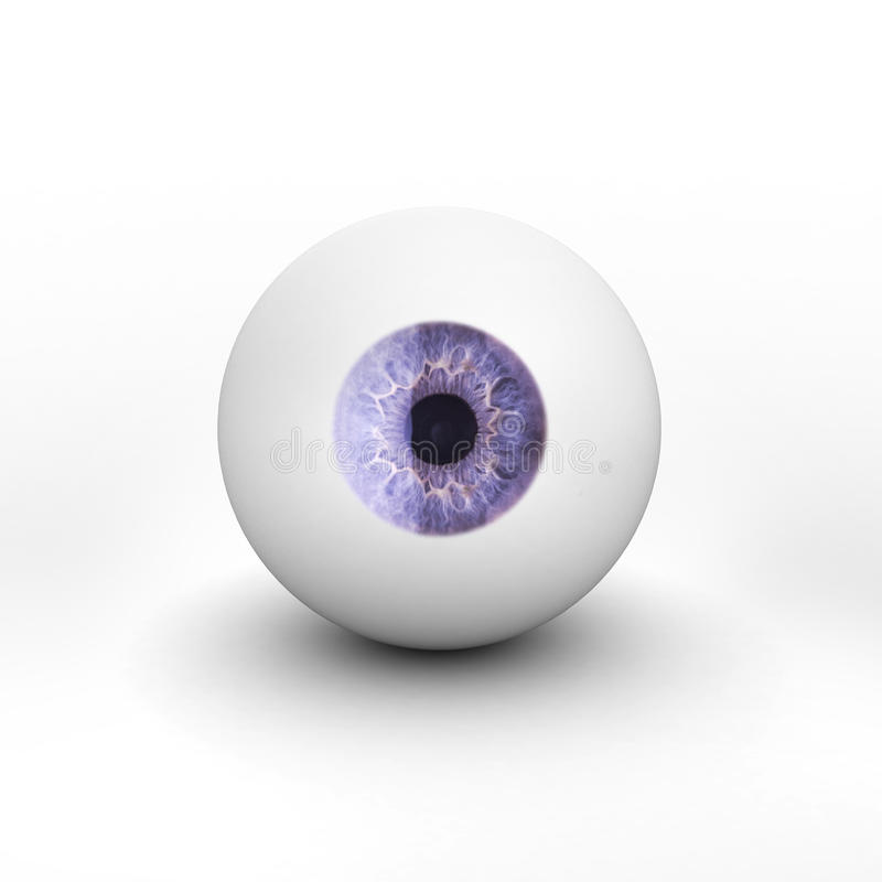 Eyeball with shadow on white background. Eyeball with shadow on white isolated backgroundThis is the 30000000th image online vector illustration