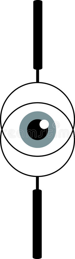 Eyeball View Throw Lens Royalty Free Stock Image