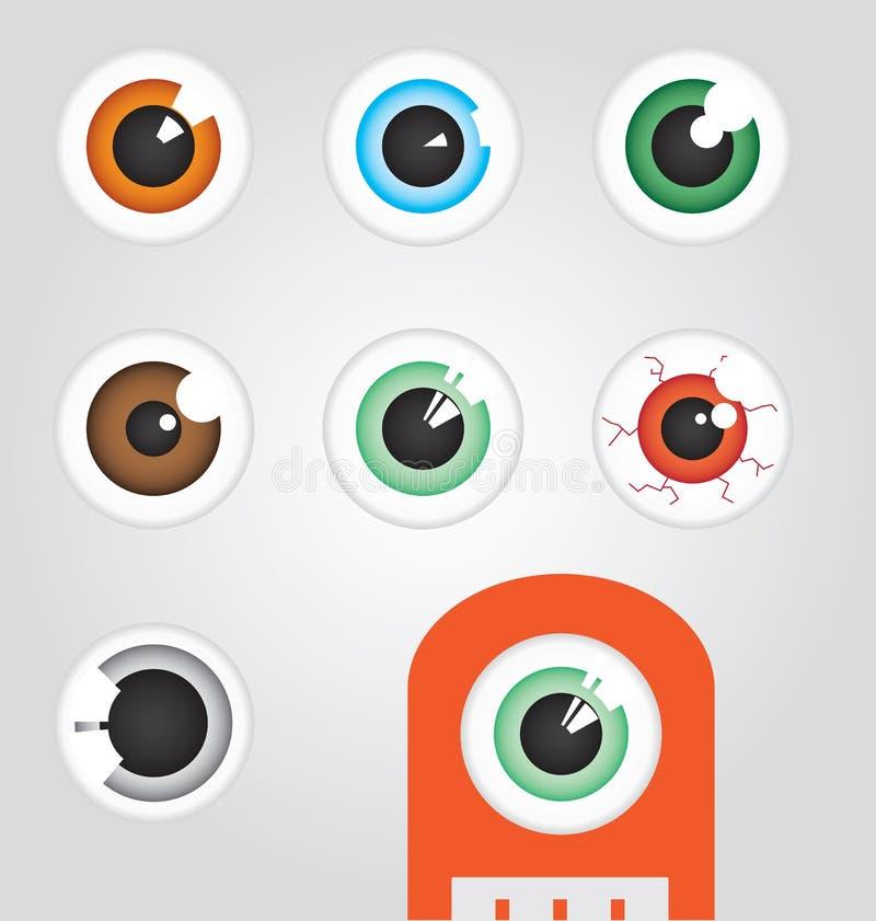 Download Eyeballs stock vector. Illustration of corner, cyclops - 24756317