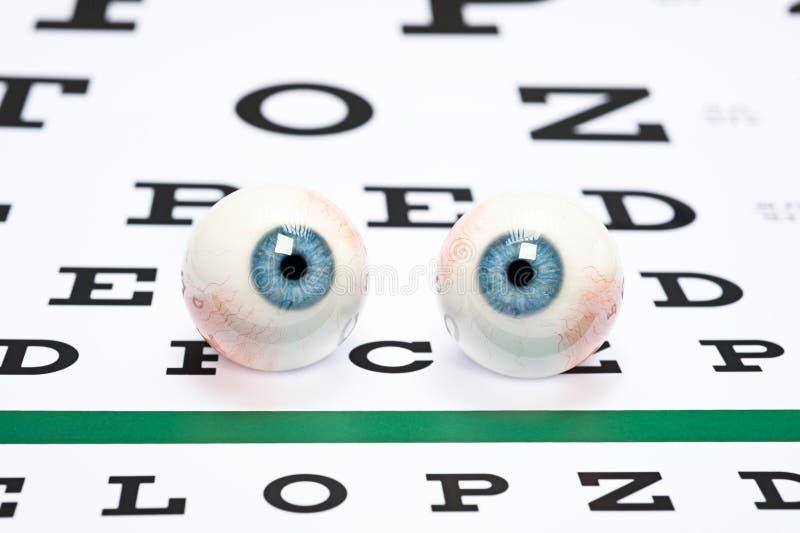 Download Eyeballs on chart stock image. Image of retina, iris - 23649125