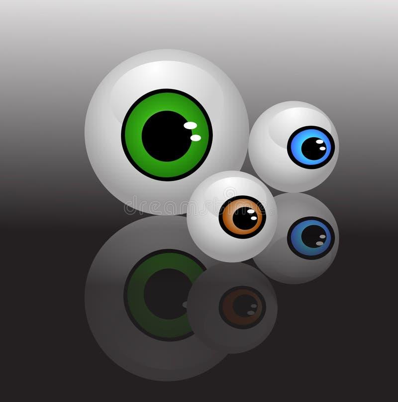 Eyeballs Isolated Vector Stock Photo