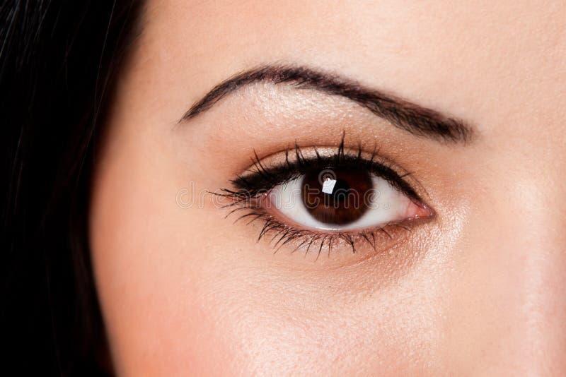 Eyebrow and eye stock photo