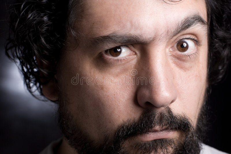 Eyebrow raise stock photo