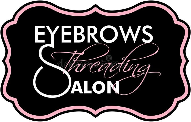 Eyebrows Threading Studio. Eyebrow Threading microblanding long lashes vector illustration