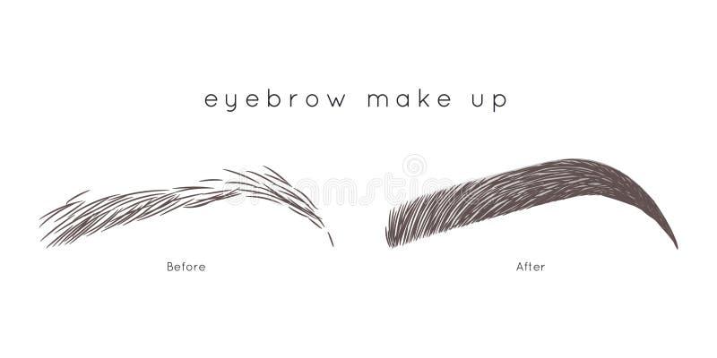 Eyebrow Tutorial. Beautiful brow step by step. How to make up eyebrow