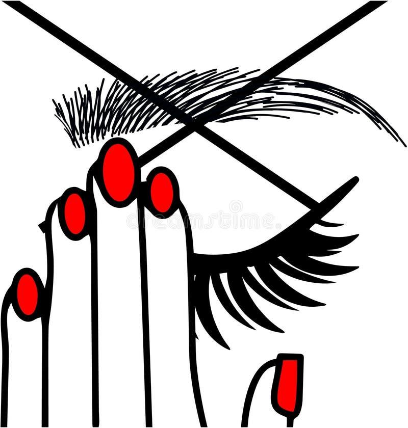 Eyebrows Threading Studio. Eyebrow Threading microblanding long lashes royalty free illustration