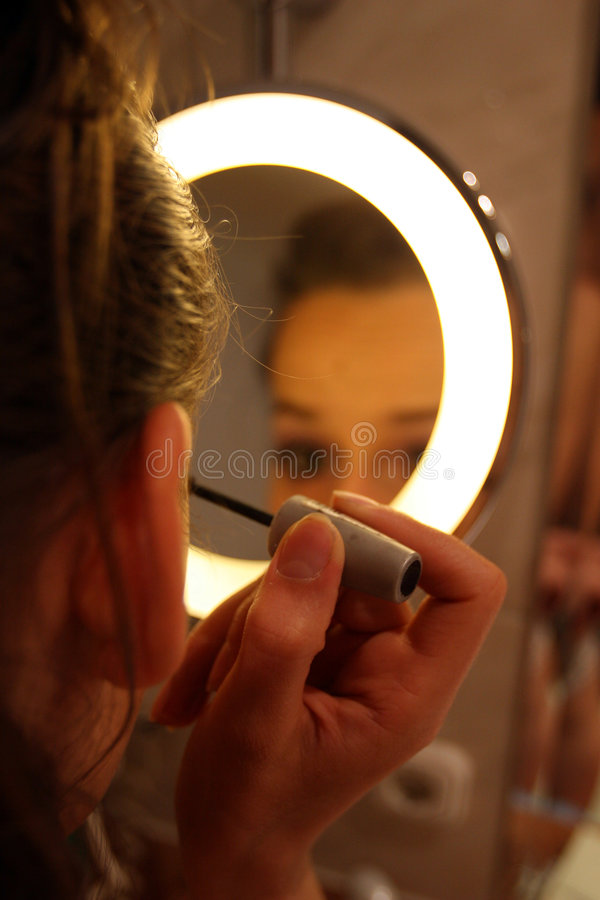 Eyebrush makeup stock photos