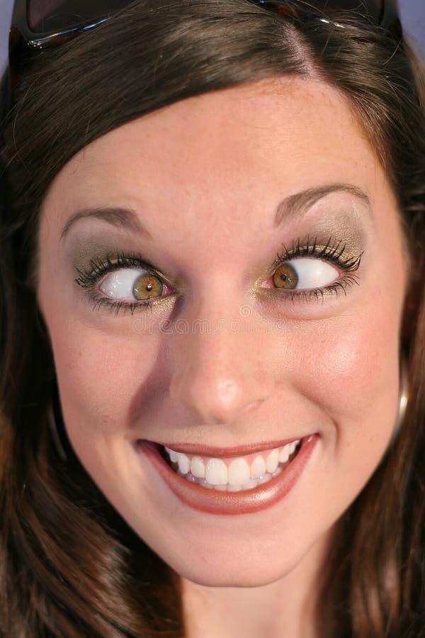 eyed крестом женщина стороны смешная стоковое фото