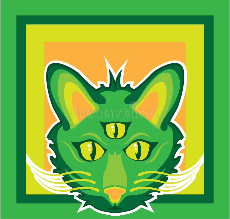 3 Eyed Cat Stock Vector