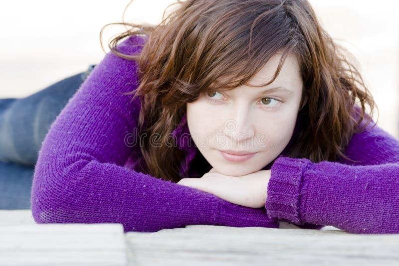eyed green woman στοκ φωτογραφίες