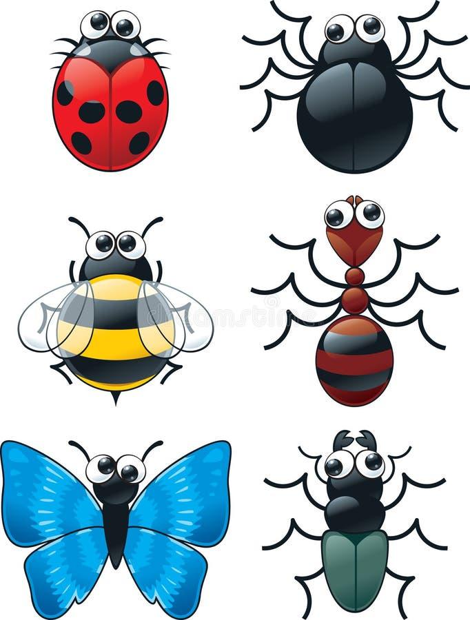 Eyed Insecten van Google royalty-vrije illustratie