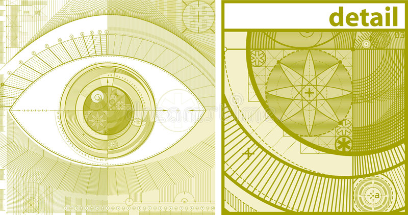 eyedraft предпосылки иллюстрация штока