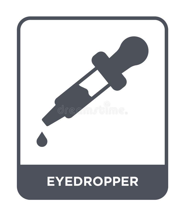 eyedropper pictogram in in ontwerpstijl eyedropper pictogram op witte achtergrond wordt geïsoleerd die eyedropper vector eenvoudi vector illustratie