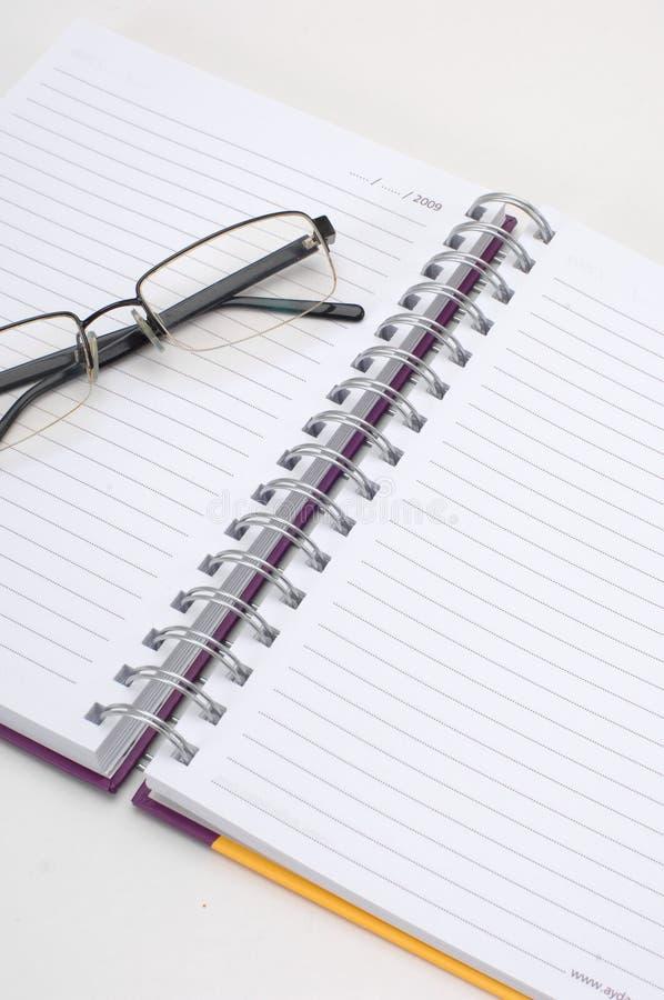 eyeglass дневника стоковые изображения