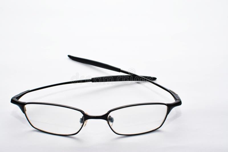 Eyeglass с белой предпосылкой стоковое фото