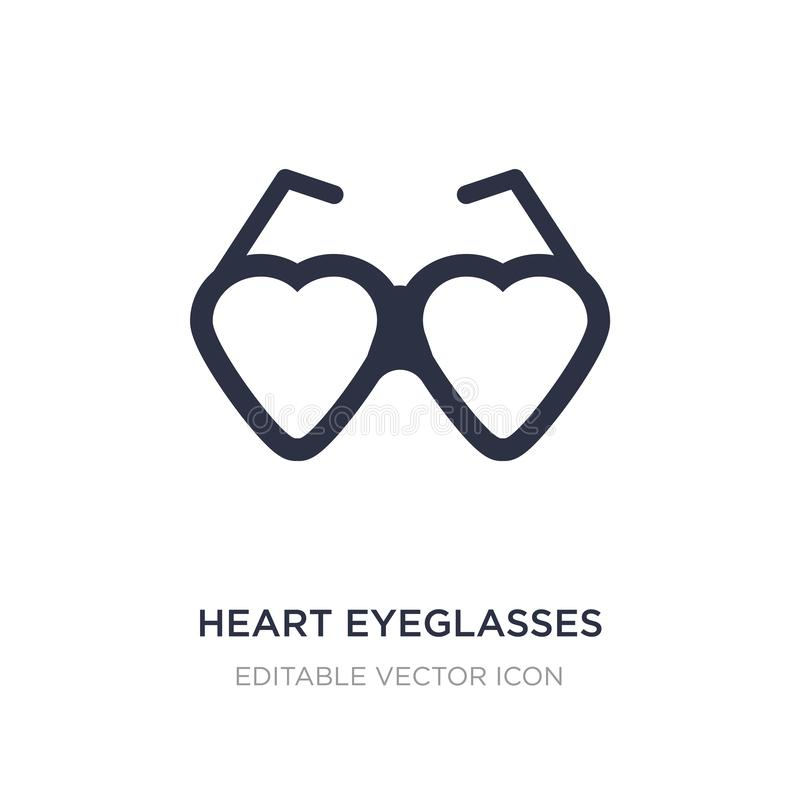 eyeglasses καρδιών εικονίδιο στο άσπρο υπόβαθρο Απλή απεικόνιση στοιχείων από την έννοια μόδας διανυσματική απεικόνιση