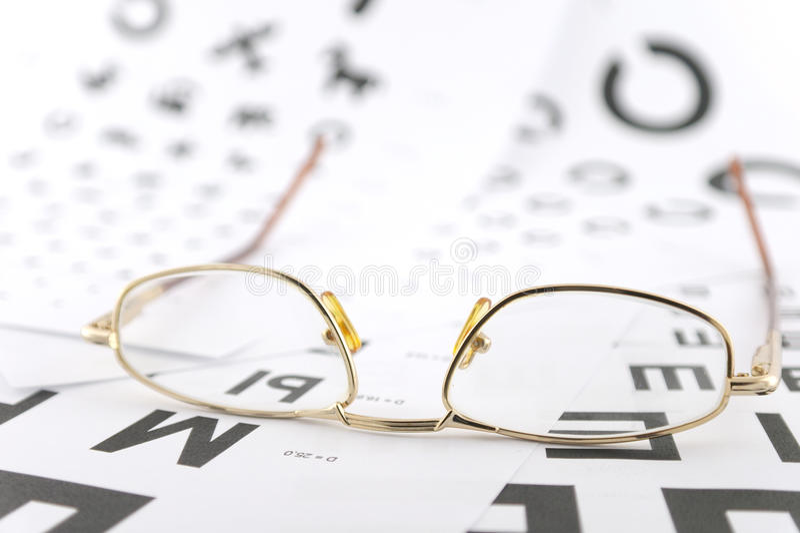eyeglasses οφθαλμολογικές κλίμακες στοκ εικόνες