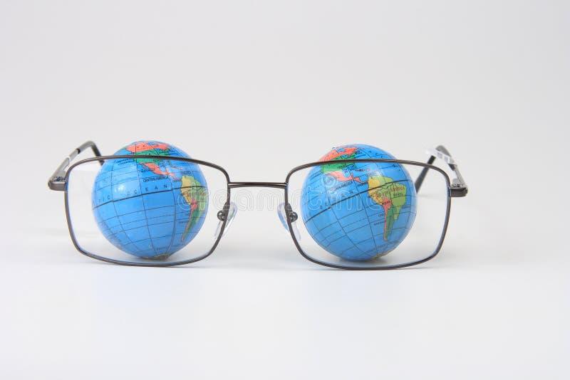 eyeglasses земли стоковая фотография
