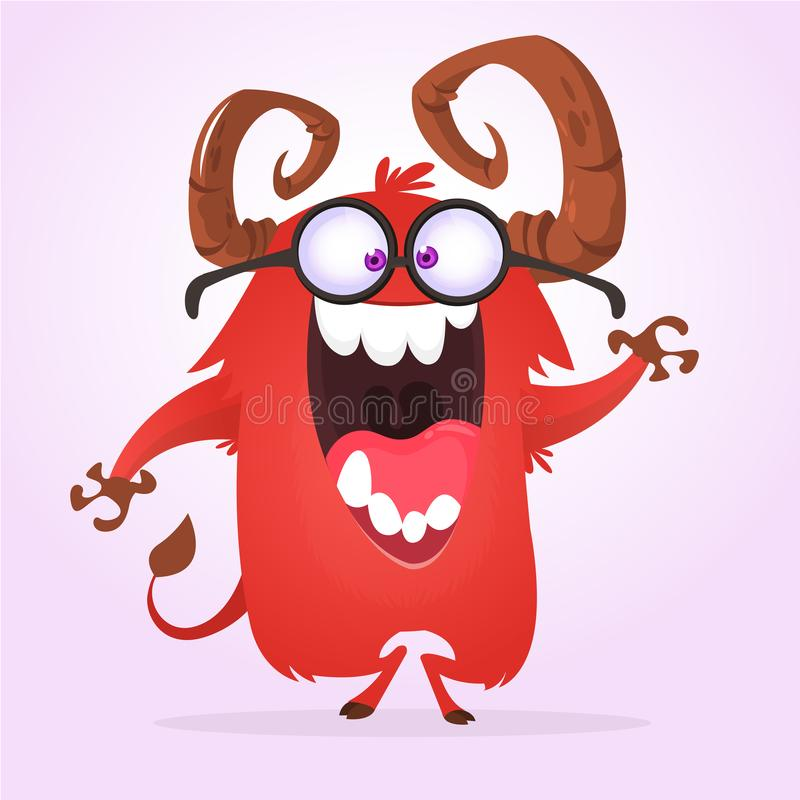 Eyeglasses и говорить чудовища нося иллюстрация штока