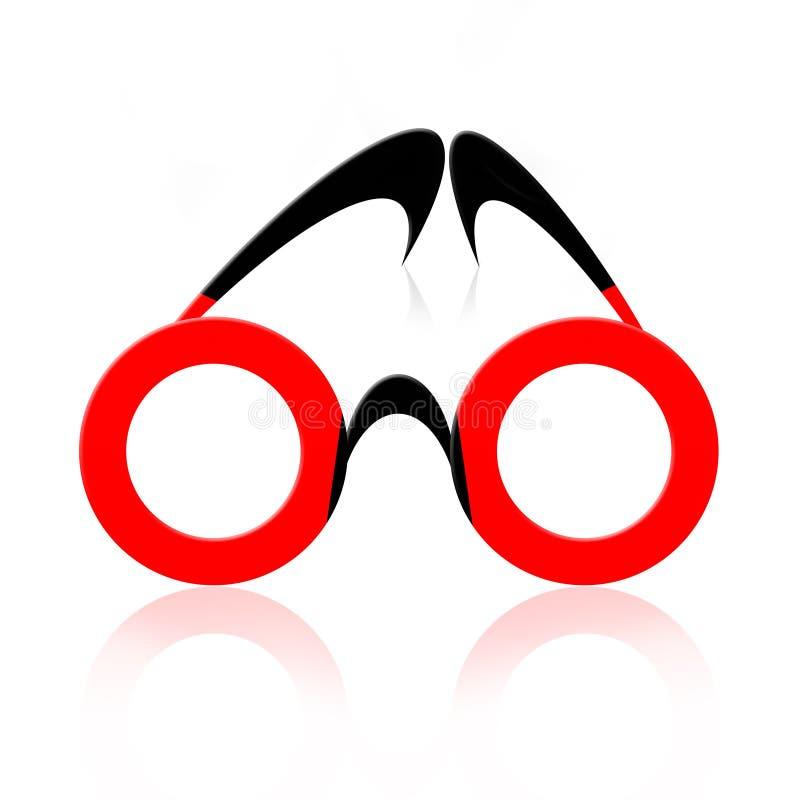 Eyeglasses abstratos ilustração royalty free
