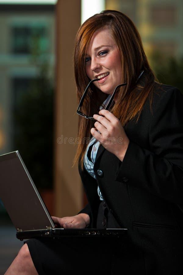 eyeglasses biznesowa kobieta fotografia royalty free