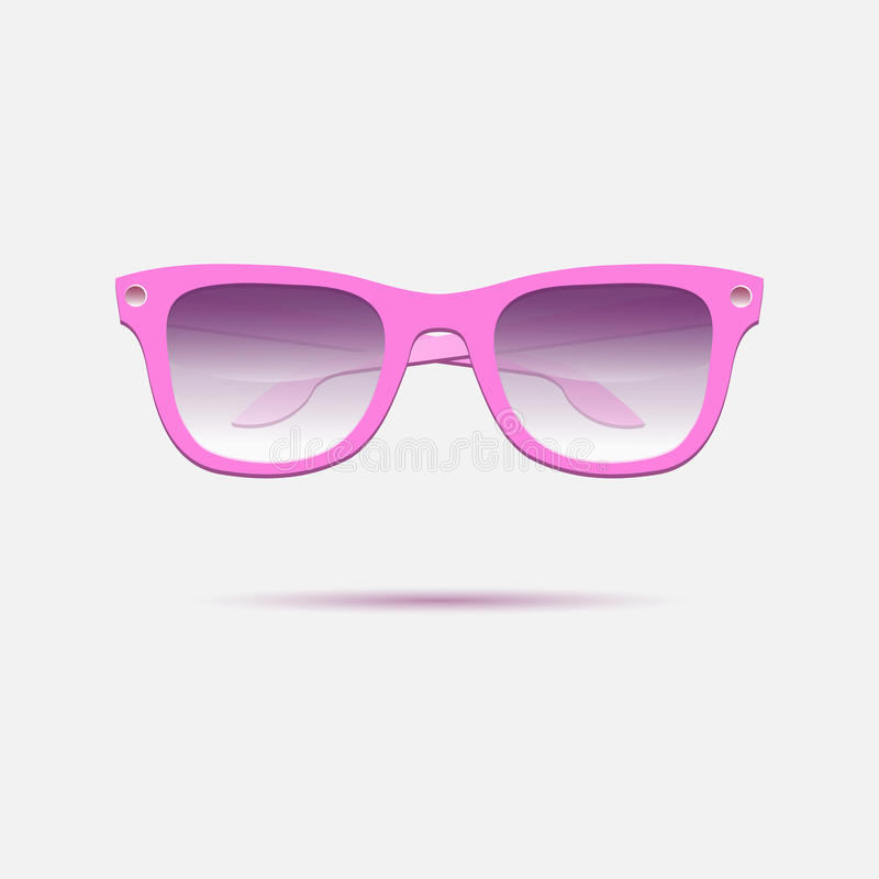 Eyeglasses cor-de-rosa Engrena o ícone ilustração royalty free