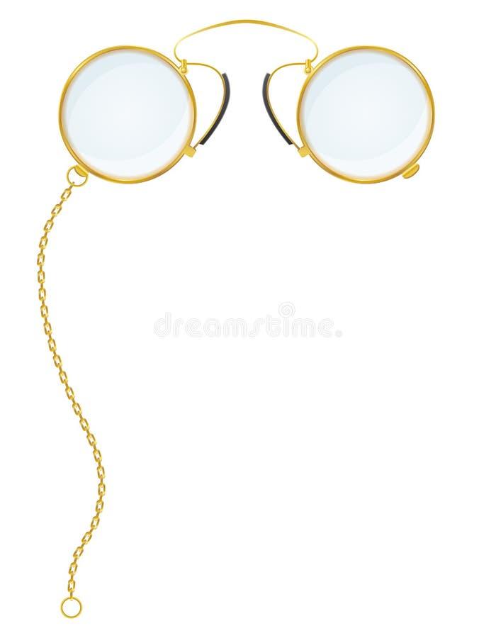 Eyeglasses cwikieru wektoru ilustracja royalty ilustracja