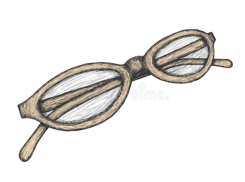 Eyeglasses desenhados mão ilustração royalty free