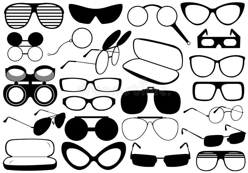 Eyeglasses diferentes ilustração do vetor