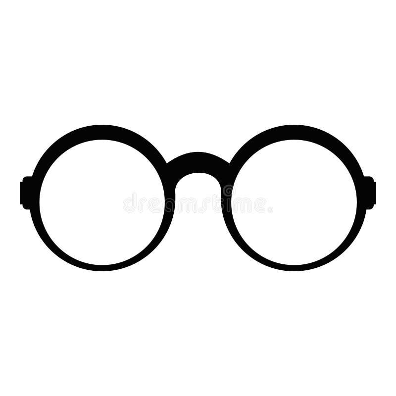 Eyeglasses dla czytelniczej ikony, prosty styl ilustracji