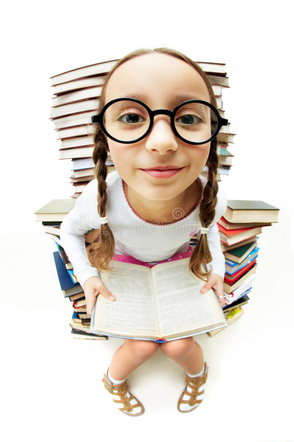 eyeglasses dziewczyna zdjęcie royalty free