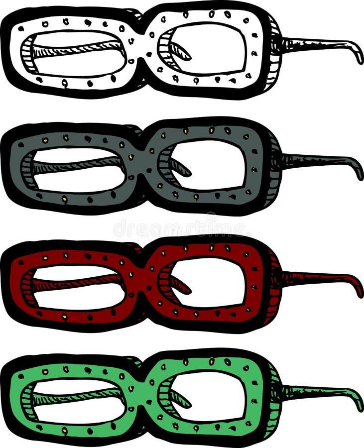 Eyeglasses estranhos ilustração stock