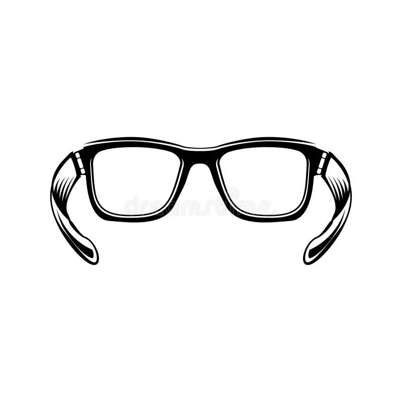 Eyeglasses Eye o ícone liso dos vidros para o app e o Web site Vetor ilustração stock