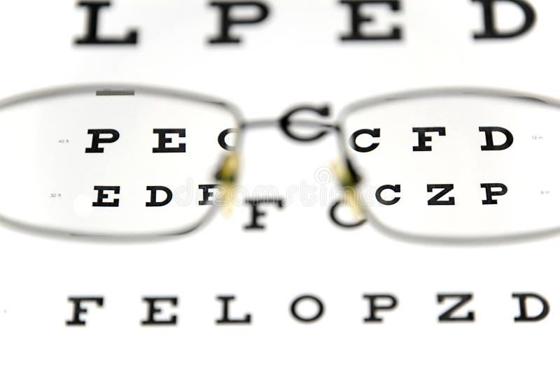 Download Eyeglasses And Eye Test Chart Stock Photo - Image: 19562264